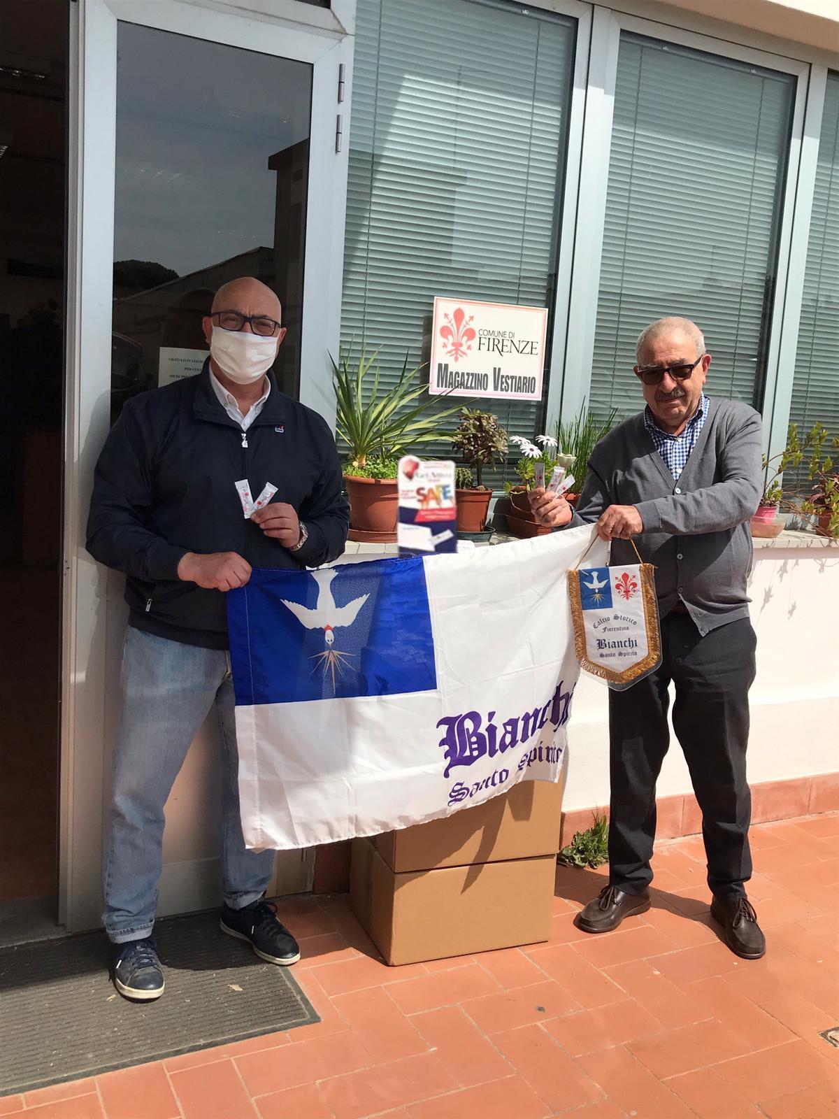 Coronavirus, i Bianchi donano al Comune 6.000 confezioni monouso di gel igienizzante